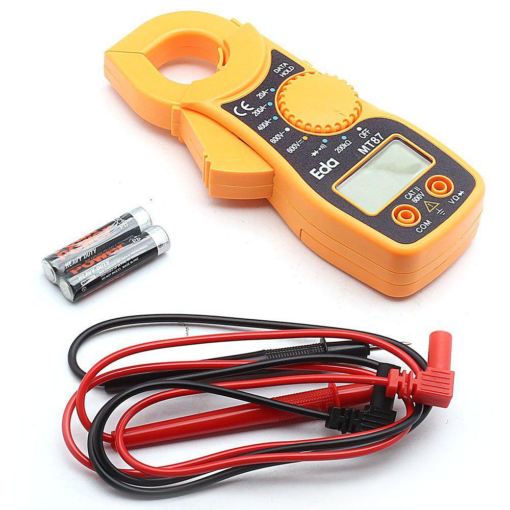 Alicate Amperímetro Digital MT 87 Resistência 200K Ohms - EDA