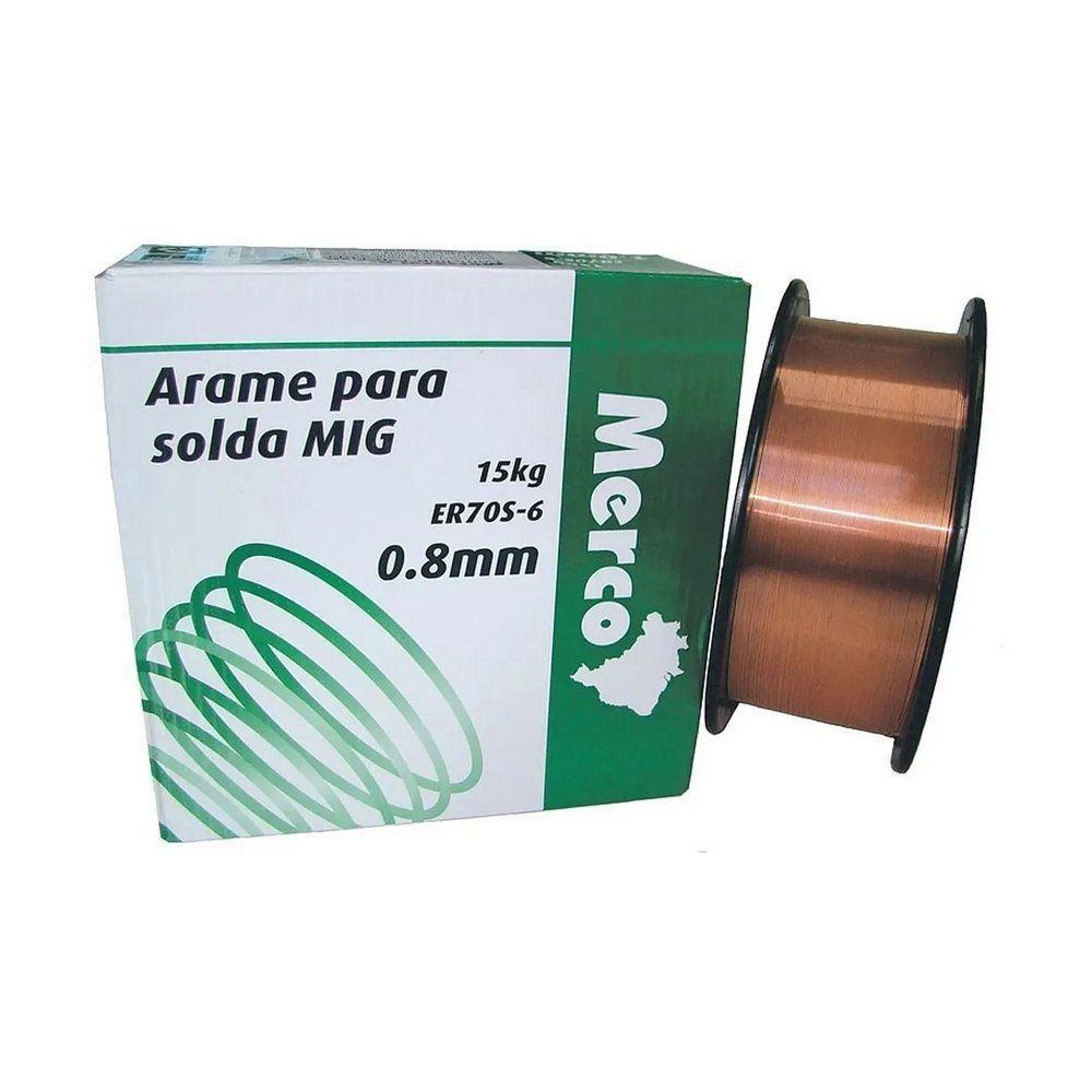 ARAME SOLDA MIG 0,8MM 15KG NOBRE