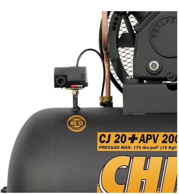 CJ20 + APV 200 L TRIFÁSICO 175 Psi 20P 5hp CHIAPERINI
