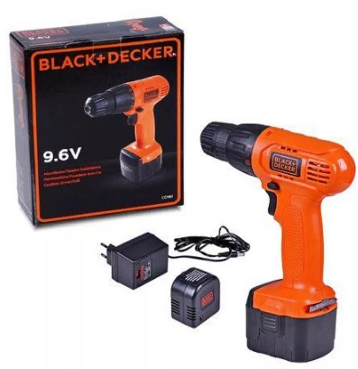 Furadeira/Parafusadeira à Bateria CD961-BR Bivolt - 9.6V Black&Decker