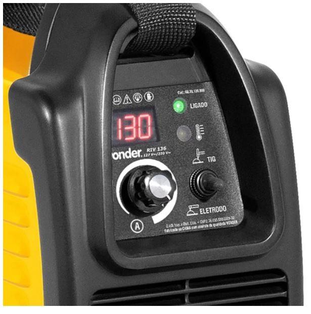 Inversora de Solda 130A com Display Digital Bivolt - VONDER-RIV136
