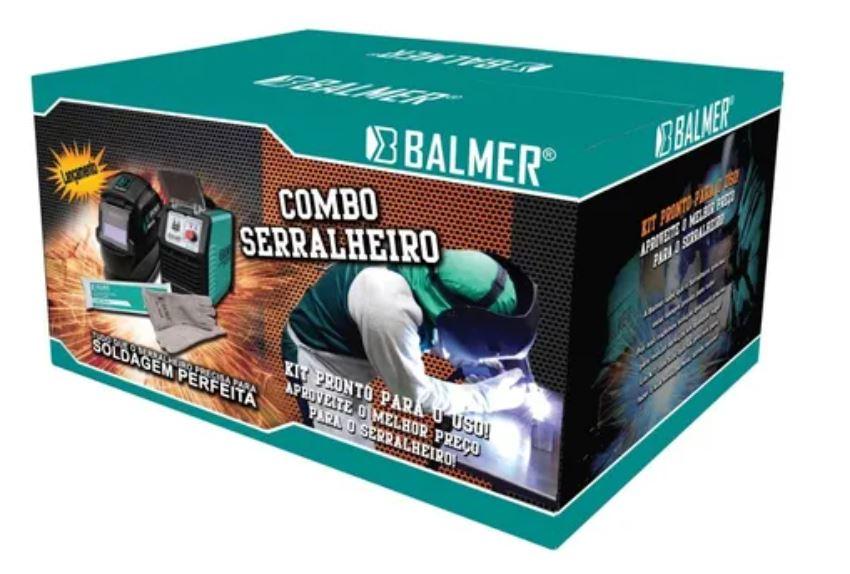 Inversora Solda Balmer Joy 223 Dv 200 A - Combo Serralheiro