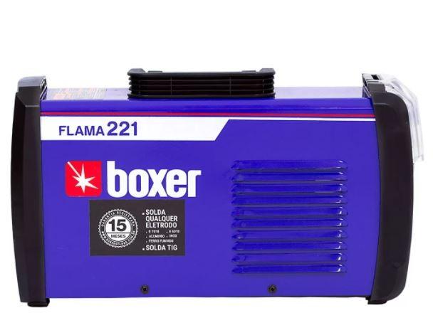 Máquina De Solda Inversora 220A  Eletrodo Flama 221 Boxer