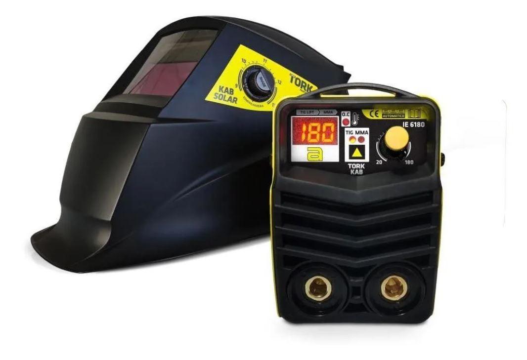 Maquina Solda Inversora 180 A + Kab Solar Combo Tork