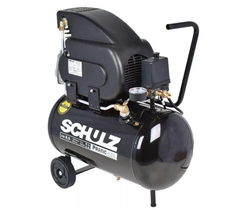 Motocompressor de Ar com Rodas CSA8,5/ 25 Litros 2 HP 220V - SCHULZ