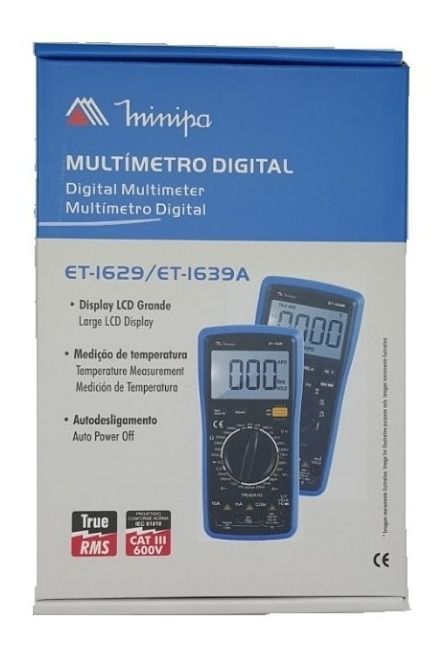 Multímetro Digital ET-1629 - Minipa