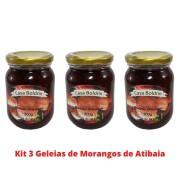 Kit 3 Geleias de Morangos de Atibaia da Casa Boldrin