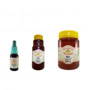 Kit Própolis 20 ml, Mel Eucalipto Puro 280 g e Mel Silvestre Puro 500 g