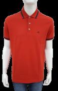 Camisa Polo Ellus Clássica Piquet Vermelho com Detalhe Masculino