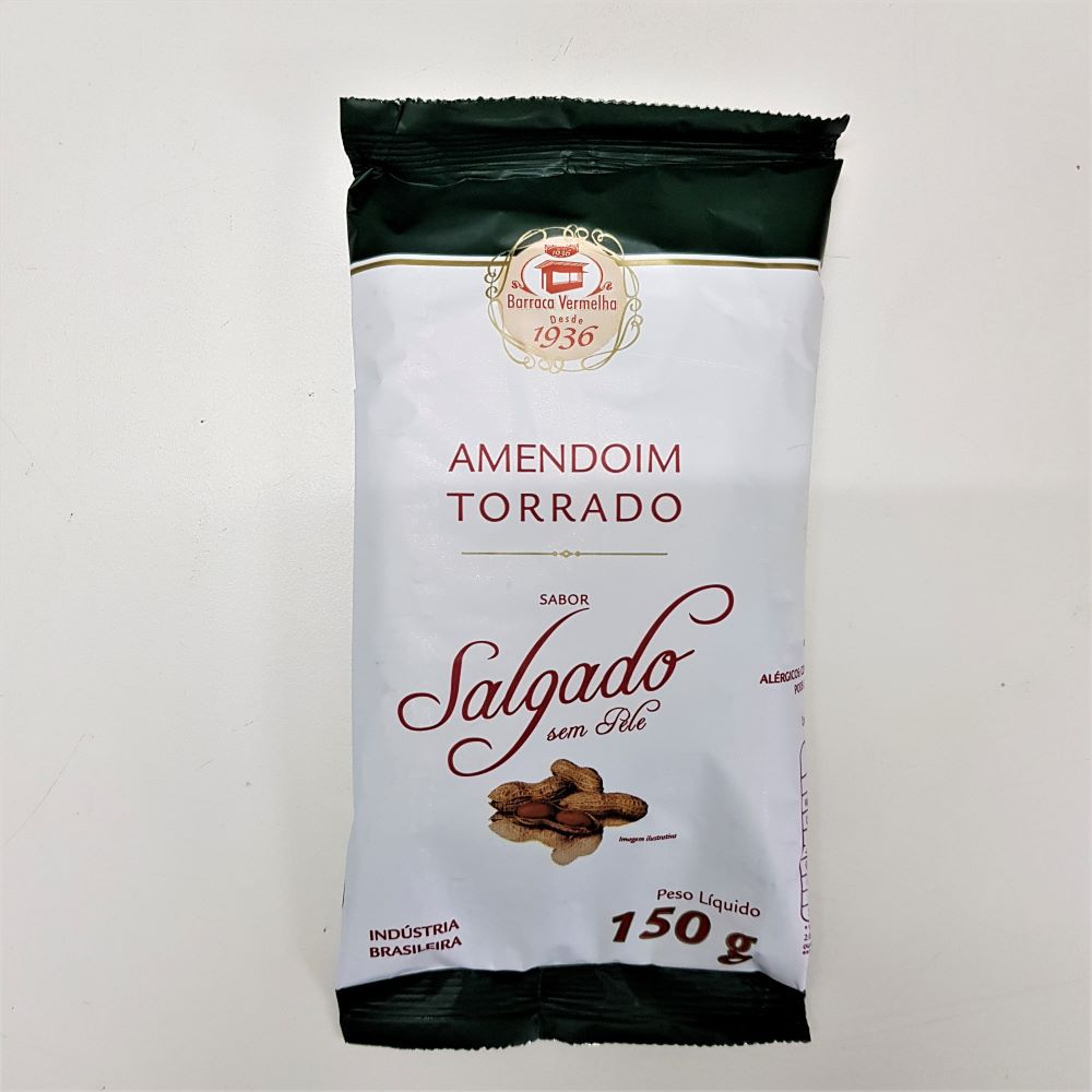 Amendoim  Torrado Salgado Sem Pele 150g