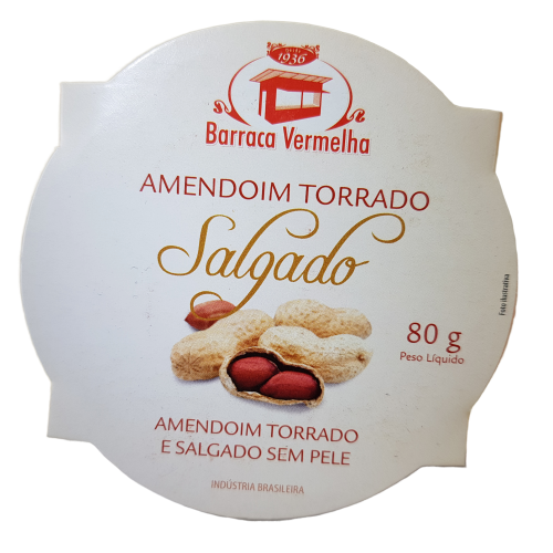 Amendoim Torrado Salgado sem Pele 80 g