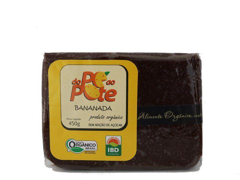 Bananada Orgânica sem Açúcar 450 gr