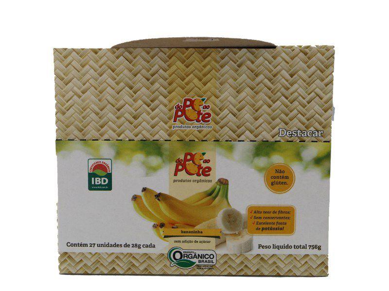Bananinha Orgânica sem Açúcar 27x28 g