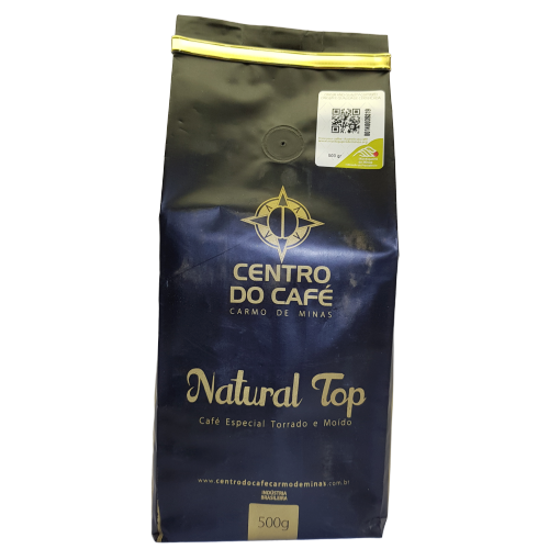 Café Natural Top Torrado e Moído 500 g