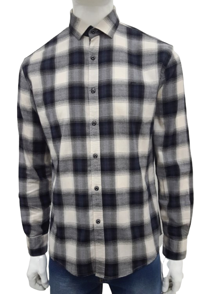 Camisa Ellus Xadrez Clássica Cinza/Preto