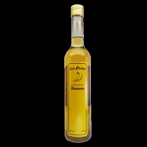 Kit 3 Licores Finos Seu Pedro 500 ml - Morango, Banana e Pêssego