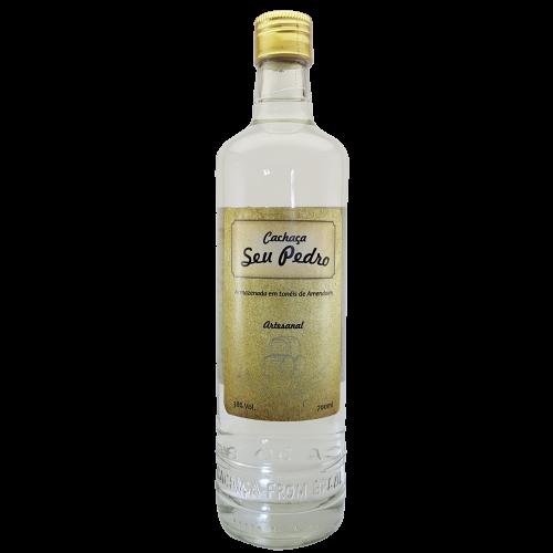 Kit Cachaça Prata, Cachaça Ouro, Licor Fino de Morango + Brinde 1 Miniatura de 50 ml