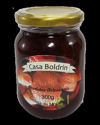 Kit Doces Casa Boldrin Geleia de Morango 300 g,  Pêssegos em Calda 680 g e Figos em Calda 680 g