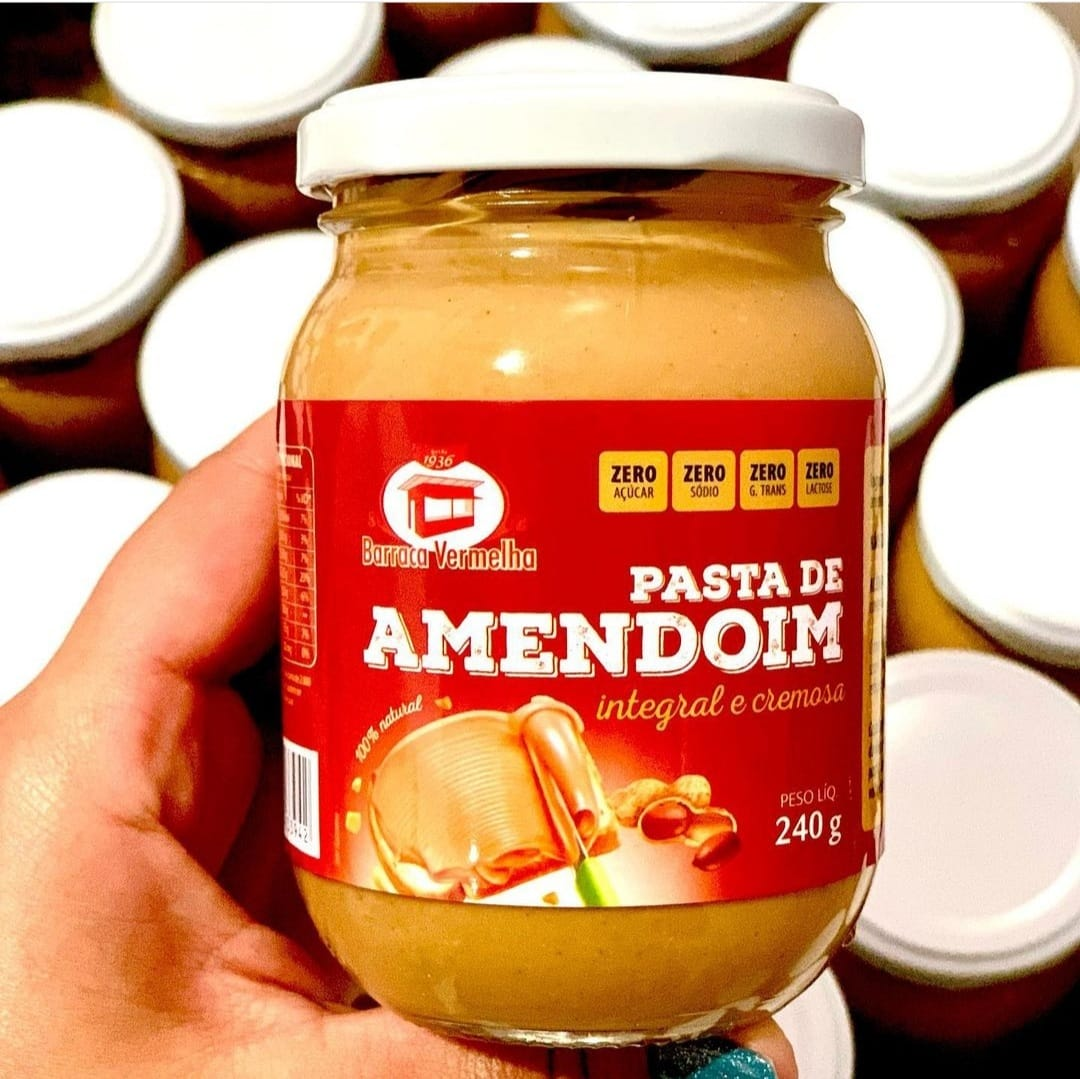 Pasta de Amendoim Integral Cremosa
