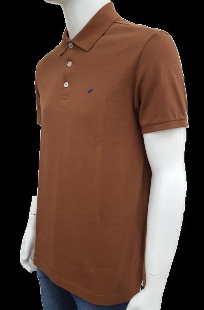 Camisa Polo Ellus Clássica Piquet Marrom Masculino