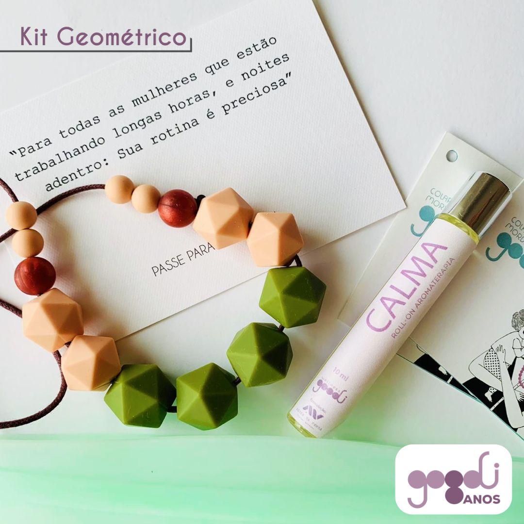 Kit Bem Estar de Aniversário da GOODI com colar modelo Geométrico