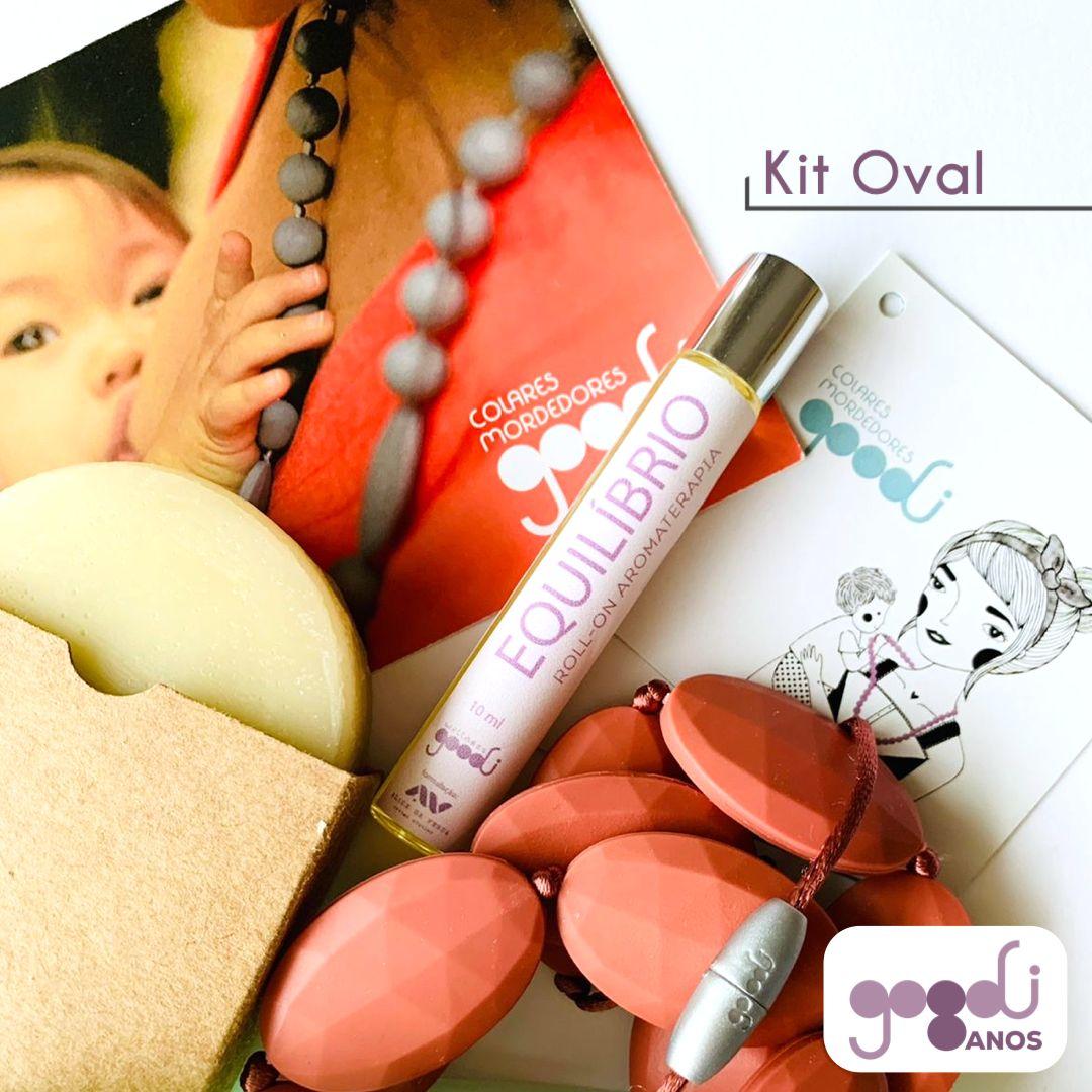 Kit Bem Estar de Aniversário da GOODI com colar modelo Oval