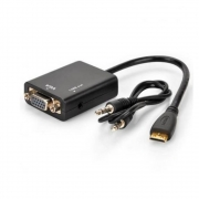 Adaptador Conversor HDMI para VGA Com Audio Shinka