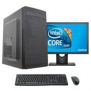 Computador Completo Core i3 8gb ssd 120gb Monitor 17