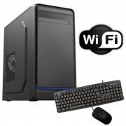 Computador Desktop Intel Dual Core 4gb ram Hd 160gb Com Wi-Fi Teclado e Mouse