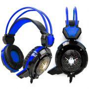 Headset Fone Gamer C/ Microfone Luz Led Gh-x30 Reforçado