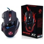 Mouse para jogo X7 preto 2400 DPI 7 Botões