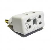 T de energia 10 e 20 amperes tomadas novas e antigas branco
