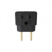 T de energia 10 e 20 amperes tomadas novas e antigas preto