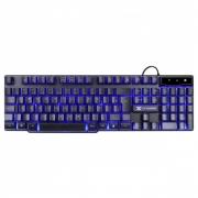 Teclado Gamer Vx 107 Teclas + 12 Multimidia Com Led Azul