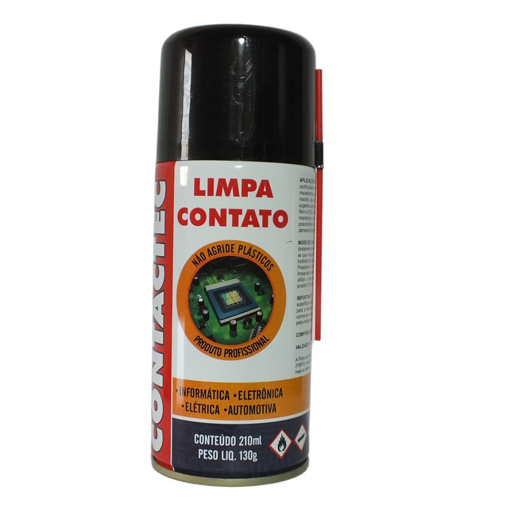 Alcool Isopropilico Desengripante Limpa Contato 3 Escovas