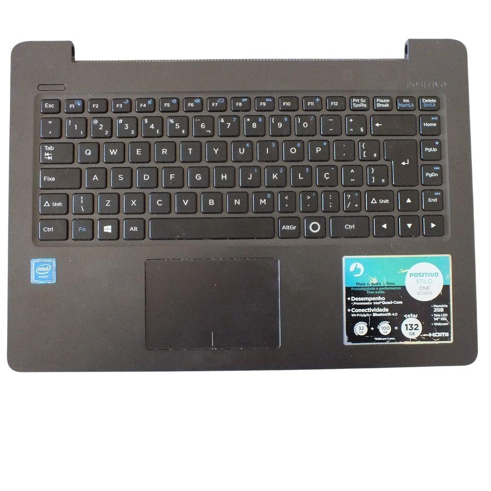 Carcaça Base Com Teclado Notebook Positivo Stilo One Xc3550
