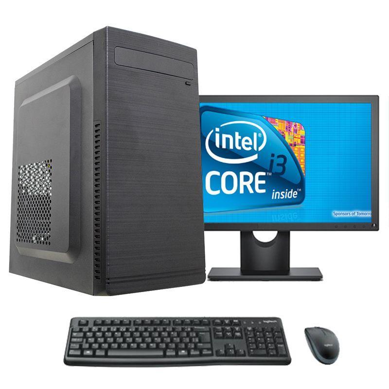 """Computador Completo Core i3 8gb HD 500gb Monitor 17"""" teclado e mouse"""