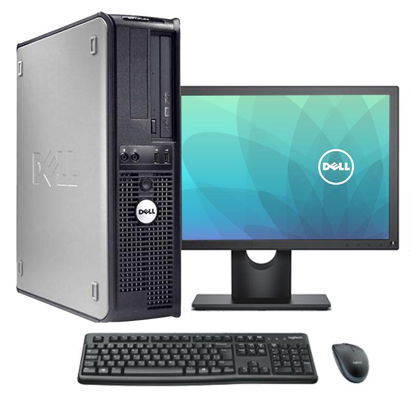 """Computador Dell Completo Core 2 Duo 4gb HD 160gb Monitor 17"""" Teclado e Mouse"""