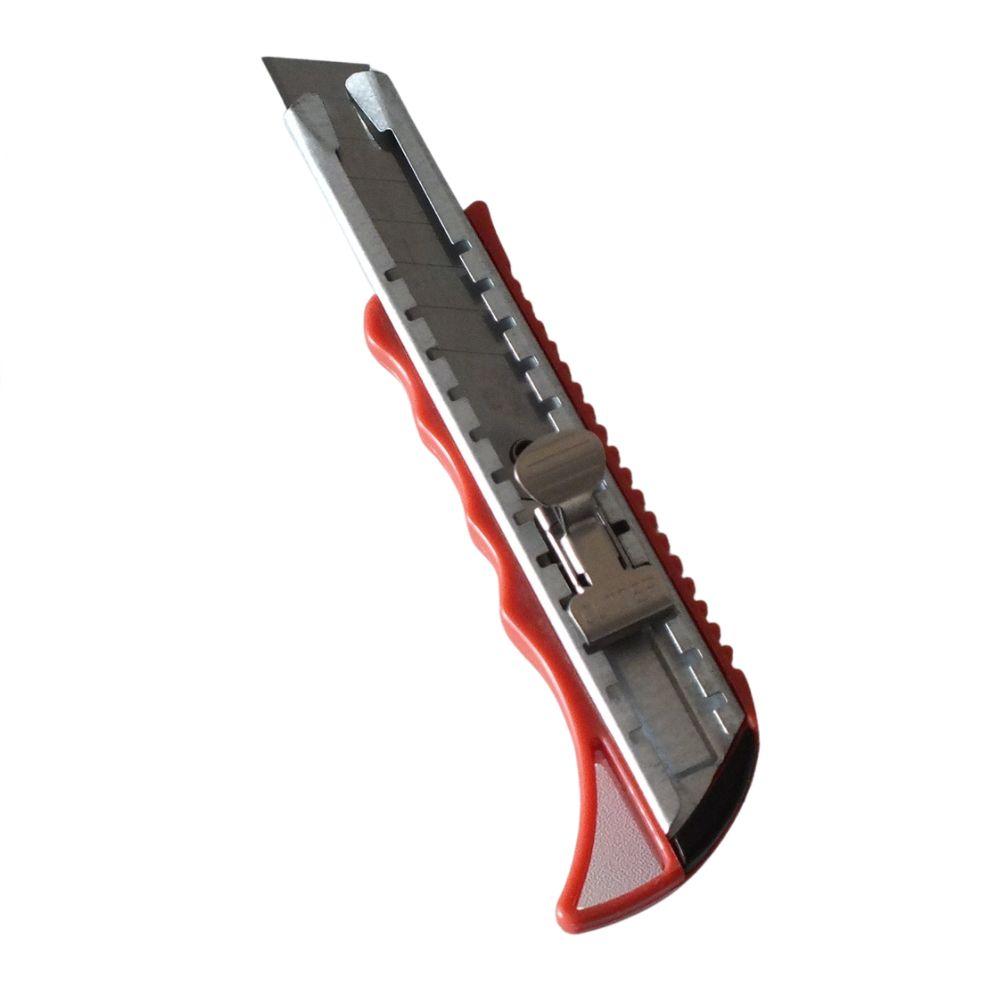 Estilete Profissional Largo 18mm com Aperto de Elastômero