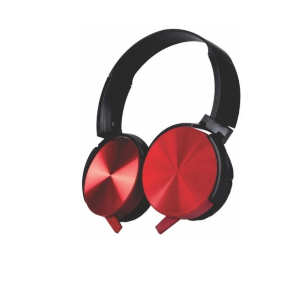 Fone Headphone Esteréo com Microfone Extra Bass Trc7646 vermelho