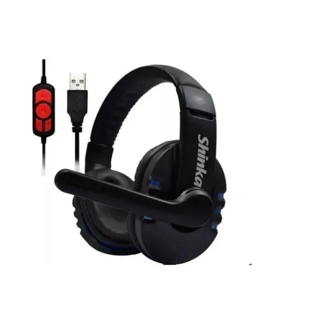 Fone Ouvido Headset Game De Qualidade Usb C/controle De Mudo
