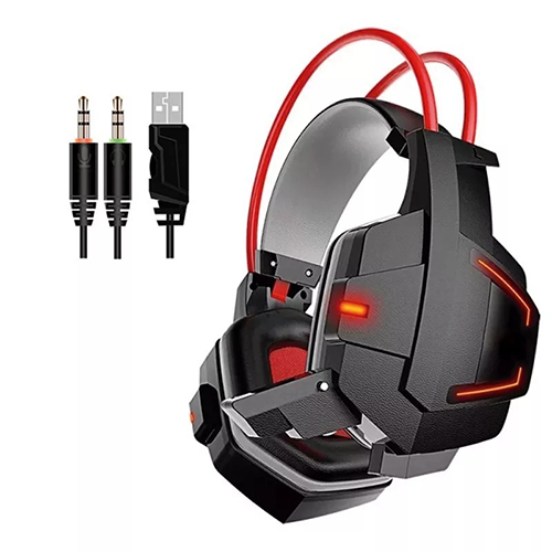 Fone Ouvido Headset Gamer Led Micro Gh-x20 Ps3 Xbox Pc Usb