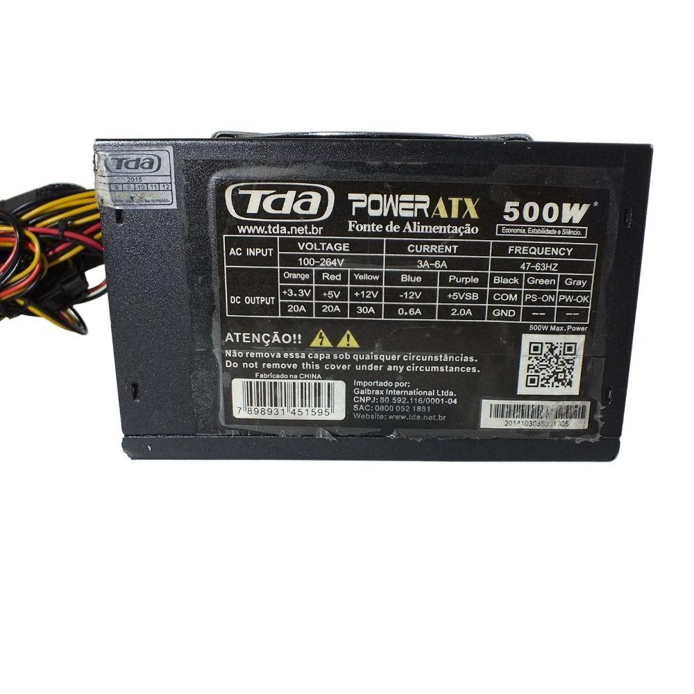 Fonte 500w Reais Tda Power Atx