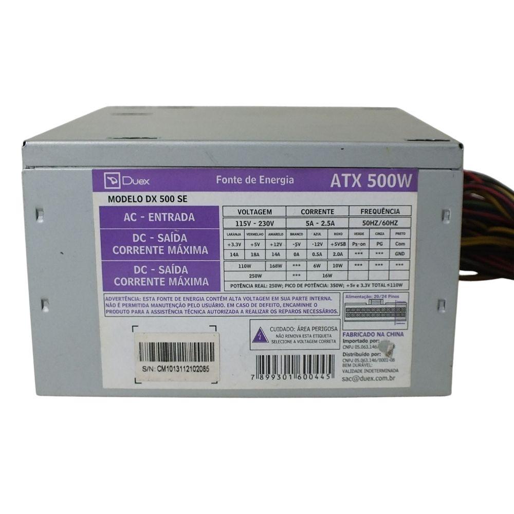 Fonte Bivolt ATX  Duex DX 500 SE