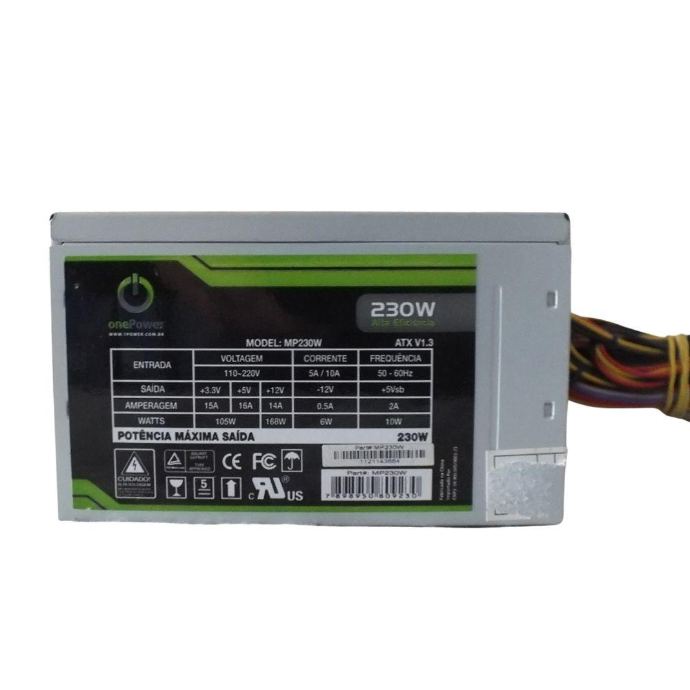 Fonte de alimentação One Power MP230w 230w