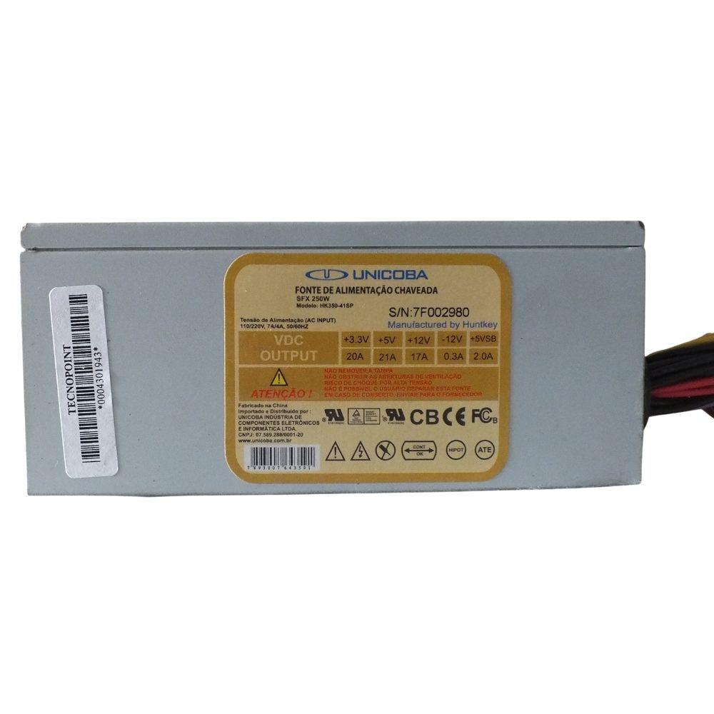 Fonte Unicoba HK350-41SP ATX 24 pinos 250W