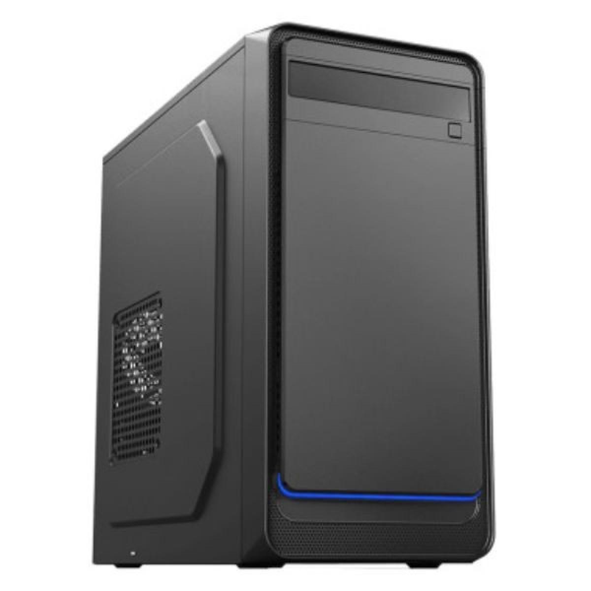 Gabinete 6503BK Micro ATX 1Baia Led Azul 2xUSB 2.0 Sem Fonte
