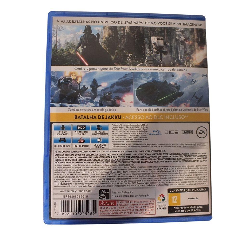 Jogo Sony Playstation Ps4 Star Wars Batllefront Ea Sports