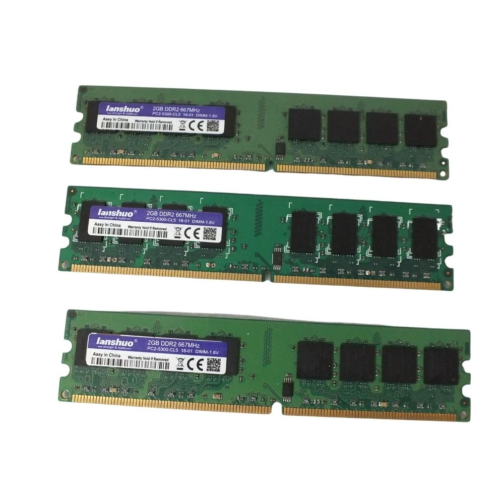Memoria Ram 2 GB Lanshuo Barramento DDR2 modelo 667