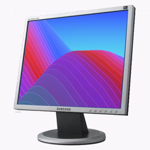 """Monitor LCD de 15"""" Polegadas Quadrado - VGA - Usado - Com Cabos"""